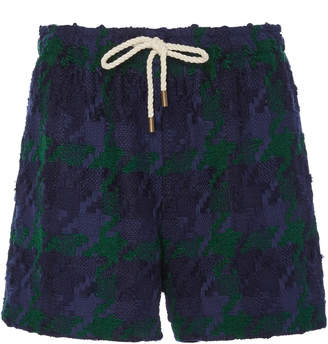 Monse Tweed Mid-Length Shorts