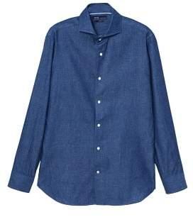 Mango Man MANGO MAN Slim-fit dark denim shirt