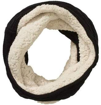 North Point Women's Cable Knit Infinity Scarf with Sherpa Lining