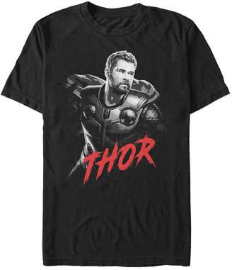 Marvel Men Avengers Infinity War Dark Painted Thor Short Sleeve T-Shirt