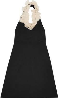 Isa Arfen Asymmetric Ruffled Printed Cotton-Blend Dress