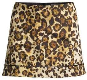 Alexis Women's Rami Animal-Print Mini Skirt - Animal Print - Size Large