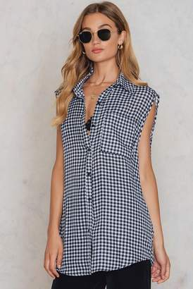 boohoo Sleeveless Gingham Shirt