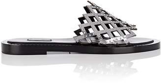 Alaia Women's Studded Laser-Cut Specchio Leather Slide Sandals