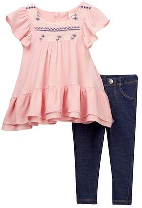 Jessica Simpson Blouse & Printed Leggings 2-Piece Set (Baby Girls)