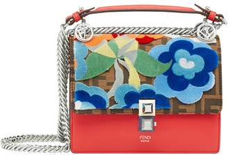 Fendi multi coloured Kan I leather shoulder bag