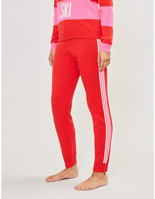 Chinti and Parker Ripple striped wool and cashmere-blend jogging bottoms