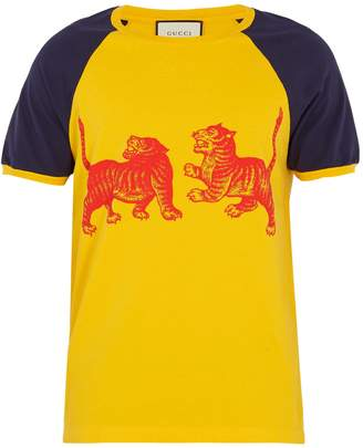 Gucci Tiger-print cotton-jersey T-shirt