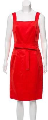 Oscar de la Renta Wool Knee-Length Dress
