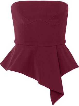Cushnie et Ochs Evita Off-the-shoulder Stretch-crepe Peplum Top
