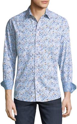 Robert Graham Men's Dobie Geometric Woven Sport Shirt