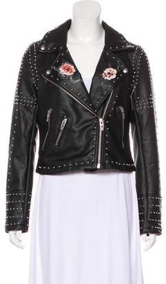 Blank NYC Embellished Faux Leather Jacket w/ Tags