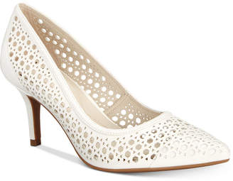 Alfani Women's Step 'N Flex Jennah Perforated Pumps, Created for Macy's