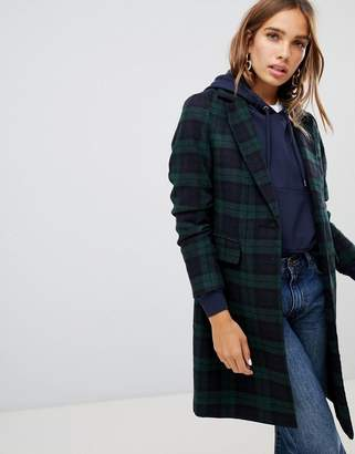 New Look Plaid Check Coat