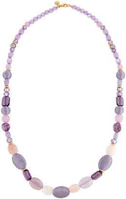 Lydell NYC Long Beaded Necklace, Purple