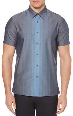 Perry Ellis Vertical Ombre Cotton Sport Shirt