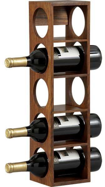 Shesham 5-Bottle Wall Mount-Stacking Wine Rack