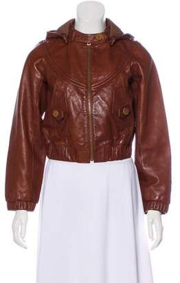 Hayden Harnett Cropped Leather Jacket