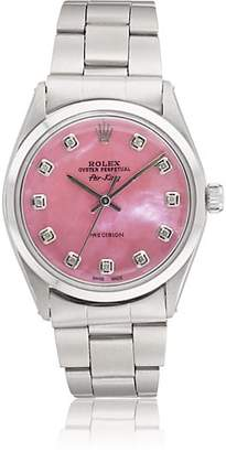Rolex Vintage Watch Women's 1966 Oyster Perpetual Air-King Watch - Pink
