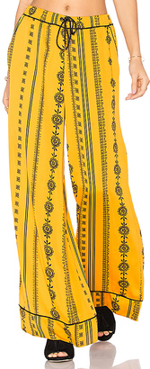 House of Harlow 1960 x REVOLVE Joni Pants in Yellow $168 thestylecure.com