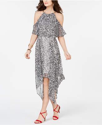 fdf5aa7b32d Thalia Sodi Animal Print Chain-Neck Off-The-Shoulder Maxi Dress