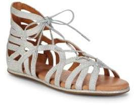 Gentle Souls Break My Heart Metallic Woven Sandals