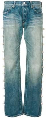 Tu Es Mon Trésor side pearl jeans