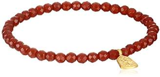 Satya Jewelry Classics Carnelian Tree of Life Protection Stretch Bracelet
