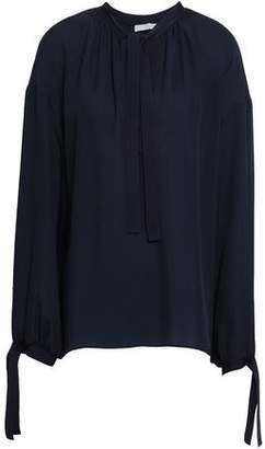 Vince Pussy-bow Silk-crepe Blouse
