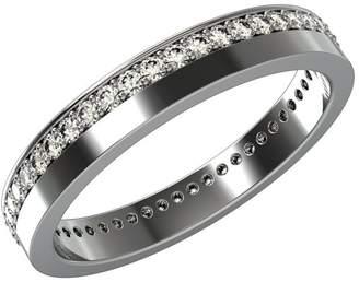 JewelsForum 14K Yellow & Gold Full Eternity Band Ring 0.5 Carat Diamond Ring for Engagement, Wedding or Anniversary Ring