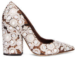 Tory Burch Francesca Embroidered Printed Pump