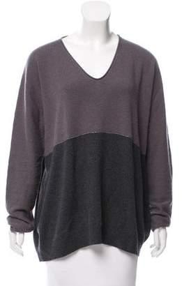 Fabiana Filippi Wool-Blend V-Neck Sweater