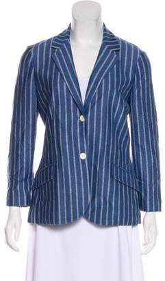 Loro Piana Printed Notch-Lapel Blazer