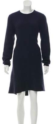 Proenza Schouler Wool Sweater Dress Navy Wool Sweater Dress