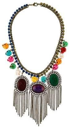 Dannijo Dyed Howlite, Resin & Crystal Raffaela Necklace