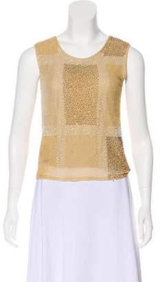 Gianfranco Ferre Sleeveless Embellished Top