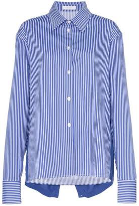 Delada knitted back striped cotton shirt