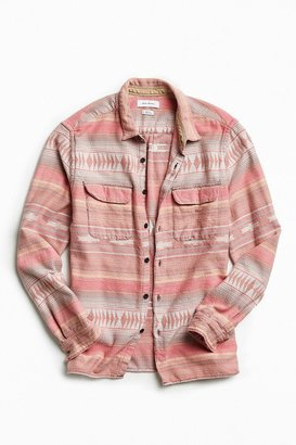 Urban Outfitters UO Blanket Jacquard Flannel Button-Down Shirt $59 thestylecure.com