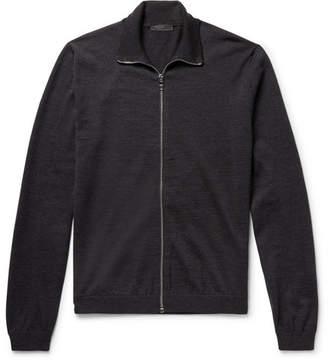 Prada Slim-Fit Virgin Wool Zip-Up Cardigan