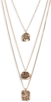 Knotty Astrological Charm Layered Necklace