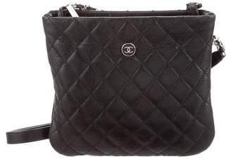 Chanel Uniform Quilted Leather Crossbody Bag