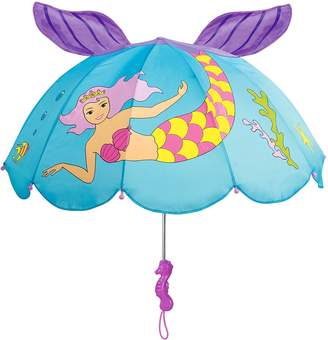 Kidorable Mermaid Umbrella for Girls With Fun Seahorse Handle and Pop-Up Tail