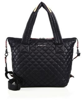 MZ Wallace Sutton Oxford Medium Quilted Nylon Tote $225 thestylecure.com