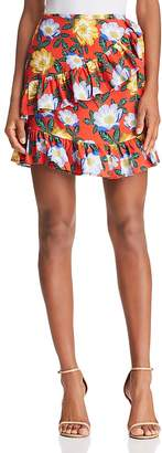 The Fifth Label Reunion Floral Wrap Mini Skirt