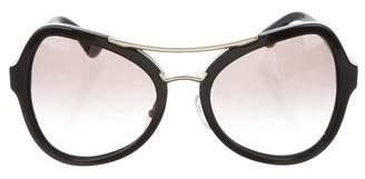 Prada Oversize Aviator Sunglasses