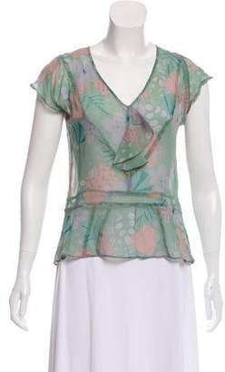 Marc Jacobs Printed Silk Top