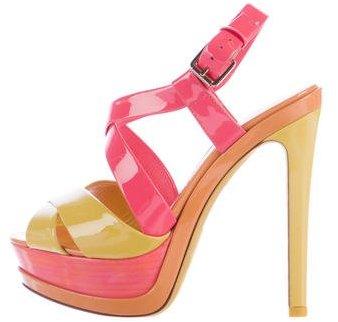 Christian Dior Colorblock Platform Sandals