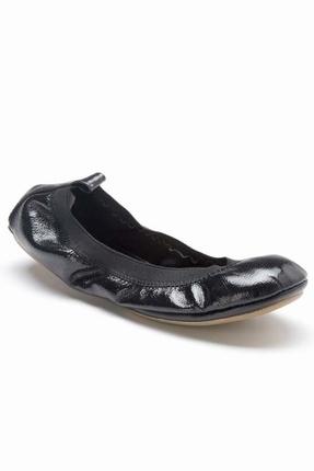 Patent Ballet Flat in Black