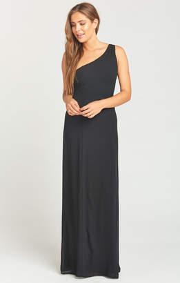 Show Me Your Mumu Eliza One Shoulder Dress ~ Black Chiffon
