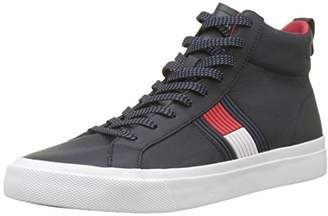 1568c47b1 Tommy Hilfiger Men s Flag Detail High Leather Sneaker Hi-Top Trainers